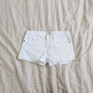 Current/Elliott   White Jean Shorts
